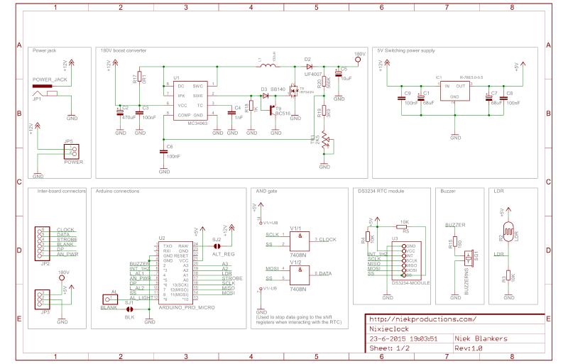 Bottom board schematic